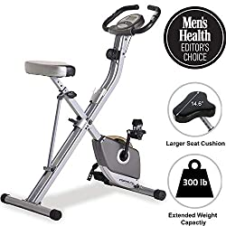 Exerpeutic Folding Magnetic Upright Exercise Bike with Pulse Monitoring